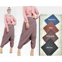 Celana Joger Layer Samping, Zaskia Pants Katun Supernova, Dogger Pants