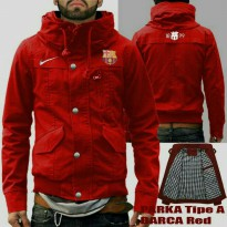 JAKET PARKA TYPE A BARCELONA RED