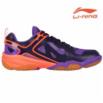 Li-Ning Badminton Training Shoes Century Purple/L. Lotus Purple AYTM005-2 Sz 9