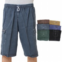 [Calista] Celana pendek warna denim / Bahan tebal dan adem / Men short / 6 warna