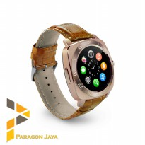 [Premium] Smart watch DZ10 / Smartwatch X3 Sim Card Memory Card Gold Brown
