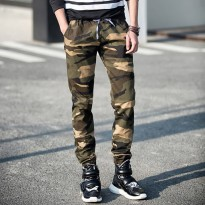[High Quality] Jfashion Celana jogger training Panjang Pria Corak Army - Army Men