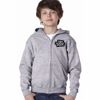Zipper Hoodie Anak New World Punk - Abu-abu