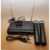 Microphone UHF s/d 60 meter Double Wireless HOMIC