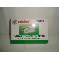 Penguat Sinyal CATV Amplifier Booster TV Indoor+Splitter 3Way Trillion