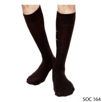 Male Long Socks Rajut Coklat Tua – SOC 164
