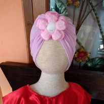 Turban Anak Purple Flower-Topi Bayi