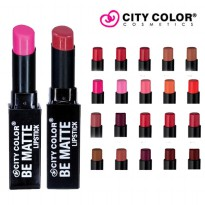 [16 Varian warna] CITY COLOR Be Matte Lipstick-33 Colors Lipstick