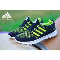 Sepatu Adidas Ultra Boost Men - Black Green