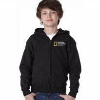 Zipper Hoodie Anak National Geographic Channel - Hitam