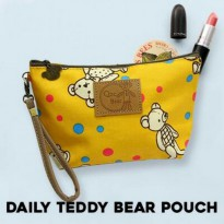 (Limited Offer) (#YDX006)/Daily Teddy Bear Pouch/Tas kosmetik/Tas travel/Tas makeup