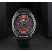 Jam Tangan Pria NAVIFORCE N9127 Original Water Resist Black Orange