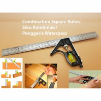 Combination Square Ruler / Siku Kombinasi / Penggaris Waterpass