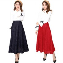 (Best Seller) Maxi Flower Punching Skirt(#612)/Rok panjang/Rok Pesta/Rok Ngembang