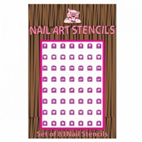 PIGGY PAINT-Combo Pack Nail Stencil-group nail polish