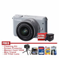 Canon EOS M10 Kit 15-45mm IS STM Gray - FREE Accessories