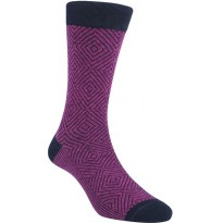 Kaos Kaki Marel Socks Life Style Men Hoover Plain MC1P-16-MS035 Purple/Black