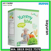 (Biskuit Bayi) Yummy Bites VEGETABLES Snack Krekers Beras Bayi Rasa