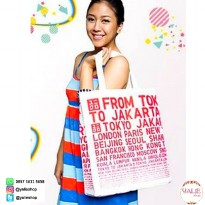 Official Novelty Tote Bag/Shoulder Bag/Tas Kanvas UNIQLO