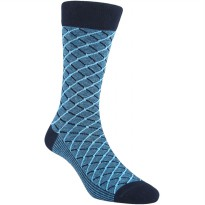 Kaos Kaki Marel Socks Life Style Men Crossline Plain MC1P-16-MS038 Blue/Black
