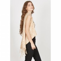 [ BERRYBENKA ] Evica Cream Tribal Vest