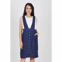 Ellica Navy Button Skirt