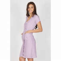 Eksuli Purple Wrap Dress