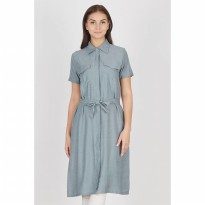 Imer Long Grey Shirt Dress