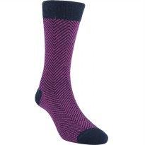 Kaos Kaki Marel Socks Life Style Men Zed Plain MC1P-16-MS041 Purple/Black