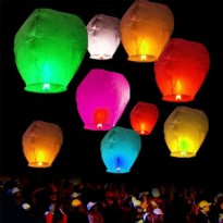 LAMPION KERTAS - LAMPION TERBANG - FLYING LANTERN - LENTERA TERBANG