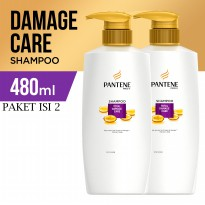 Pantene Shampoo Total Damage Care 480ml - Paket isi 2
