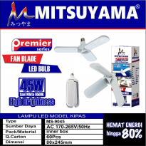 Lampu LED Model Kipas 45 Watt LED Bulb Fan Blade Mitsuyama MS