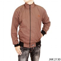 Male Summer Jacket Parasut Coklat – JAK 2130