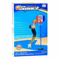 Toys Basketball Set Sport J104 - Mainan Bola Basket Set Plus Tiang - Ages3+