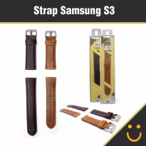 Strap Band For Samsung Gear S3 Classic, Frontier, Kulit ( NEW PRODUK )