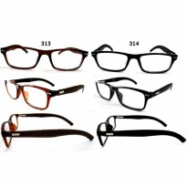 KACAMATA LEATHER KOREA STYLE GLASSES 313-314 [ INCLUDE BOX KACAMATA DAN LAP]