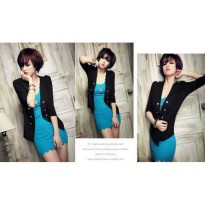 Setelan Dress Cardi Elisa