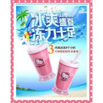 ZOKU SLUSH ICE CREAM & SHAKE MAKER SLUSHIES / GELAS MAGIC HELLO KITTY