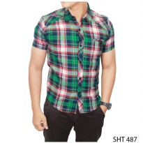 Flannel Shirt For Man Flanel Hijau Kombinasi – SHT 487