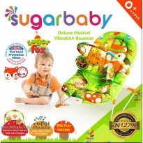 Sugar Baby Bouncer Bayi Deluxe Musical Vibration Sugar Fox kursi bayi