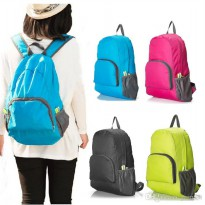 Travel Backpack Foldable Tas Ransel Lipat Korea