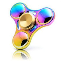 Fidget Tri Hand Spinner Rainbow High Speed