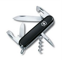 BLACK Victorinox Swiss Army Spartan 12 fungtions knifes pisau camping