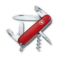 (RED) Victorinox Swiss Army Spartan 12 fungtions knifes pisau camping
