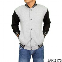 Jacket Distro Model Baseball Fleece Abu – JAK 2173