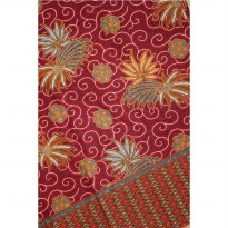 Batik Katun Red Palm