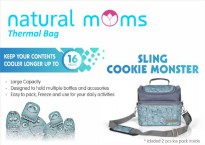 Natural moms cooler bag Cookie monster