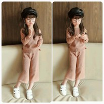 Stelan / set / setelan qullot rajut ladys for kids original import size : 7 (2-3y) 9 (3-4y) 11 (4-5y) 13 (5-6y) 15 (6-7y)