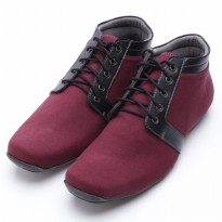 Dr.Kevin Canvas Boot Shoes 1027 Maroon