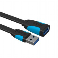 [1.5M - A13] Vention Kabel Extension Flat USB 3.0 Male to Female